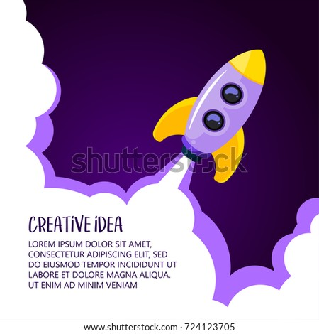 space rocket launch creative