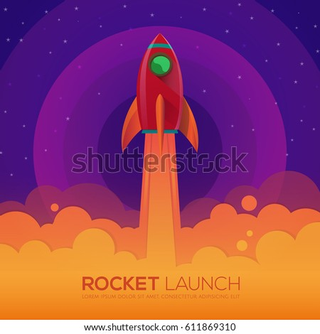 space rocket launch ship in a