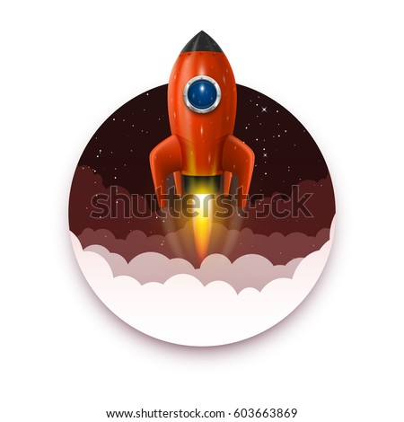space rocket launch  startup
