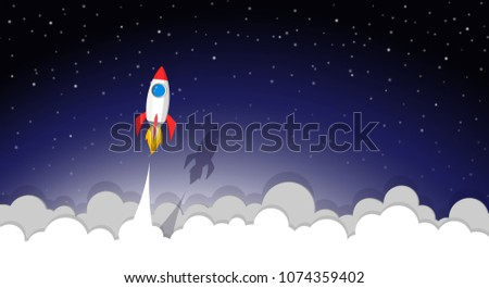 space rocket launch to the