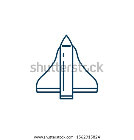 space rocket launcher line style icon vector illustration design
