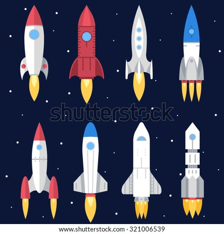 space rocket start up and