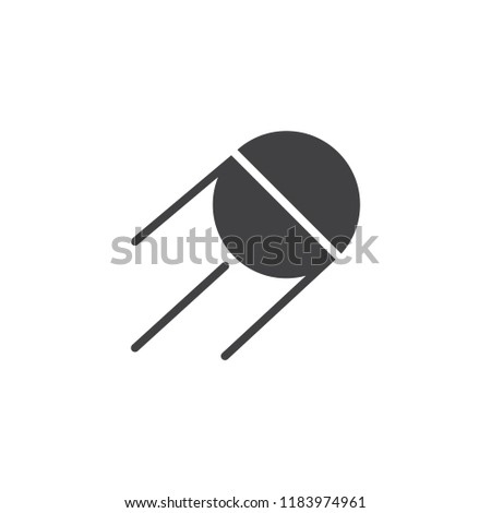Space Satellite vector icon. filled flat sign for mobile concept and web design. Sputnik simple solid icon. Symbol, logo illustration. Pixel perfect vector graphics