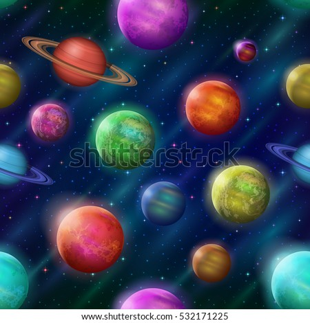 space seamless background with