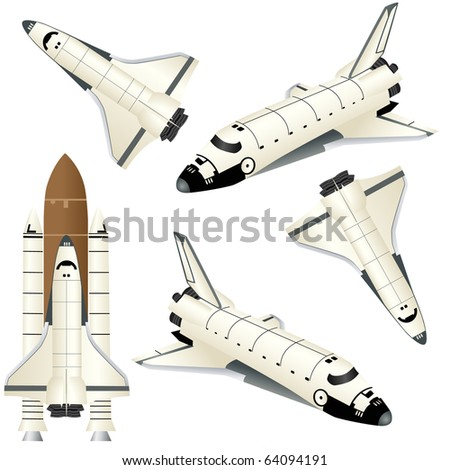 space ships isolated on white