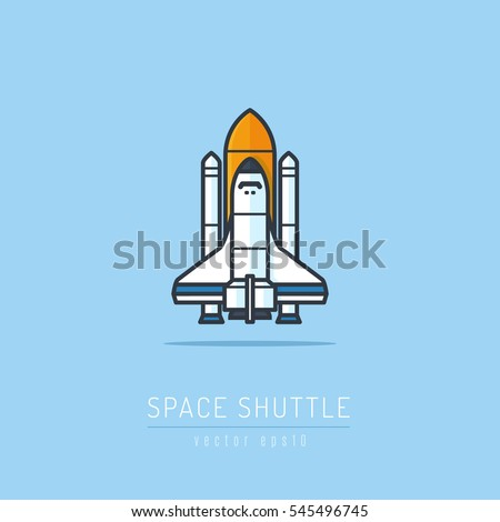 space shuttle and rockets