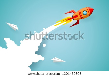 space shuttle are flying up