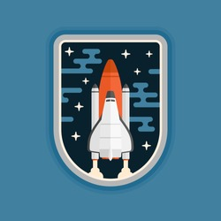 Space shuttle concept vehicle launch badge design