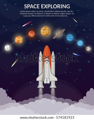 space shuttle flat illustration