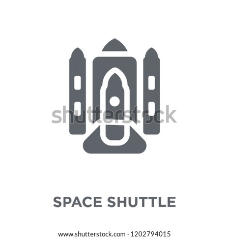 Space shuttle icon. Space shuttle design concept from Astronomy collection. Simple element vector illustration on white background.