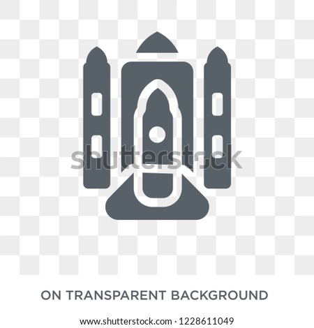 Space shuttle icon. Space shuttle design concept from Astronomy collection. Simple element vector illustration on transparent background.