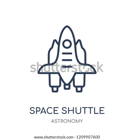 Space shuttle icon. Space shuttle linear symbol design from Astronomy collection.