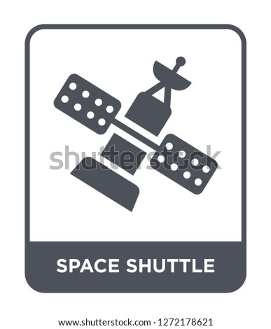 space shuttle icon vector on white background, space shuttle trendy filled icons from Astronomy collection, space shuttle simple element illustration