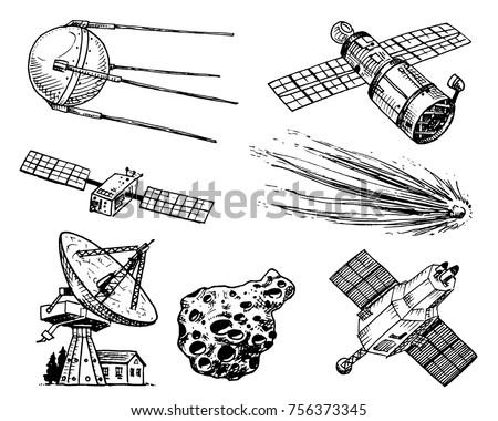 space shuttle  radio telescope...