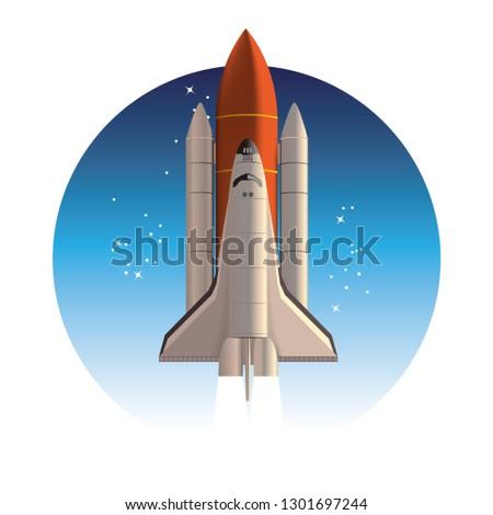 Space shuttle. Rocket launch.