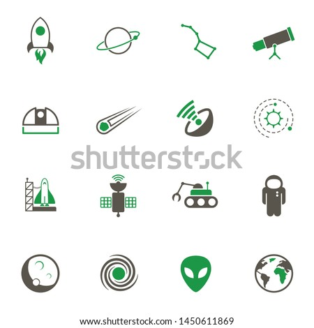 space simple vector icons in