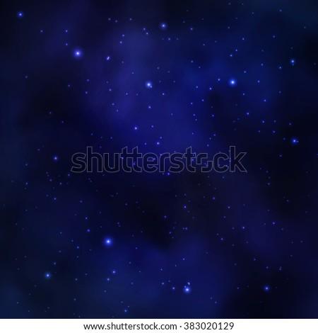 space stars on dark blue