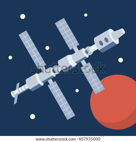 space station orbiting mars