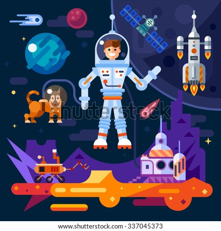 space theme art work  astronaut
