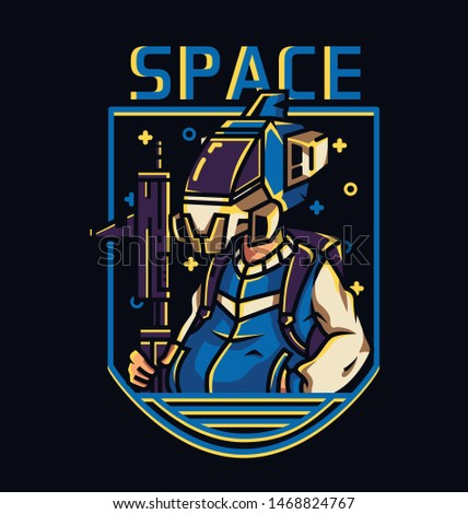 Space troop vector illustration for business or personal