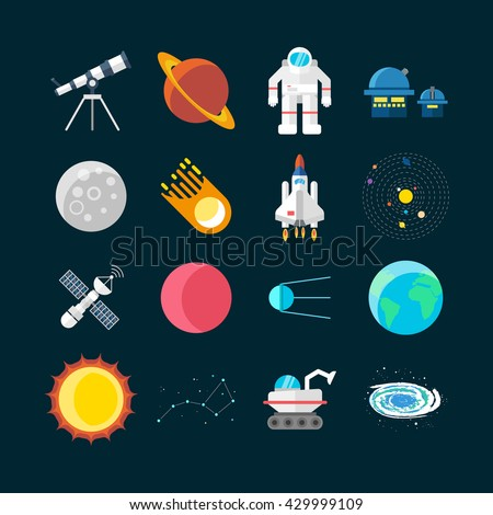 space universe colored isolated