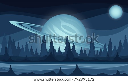 space vector sci fi background