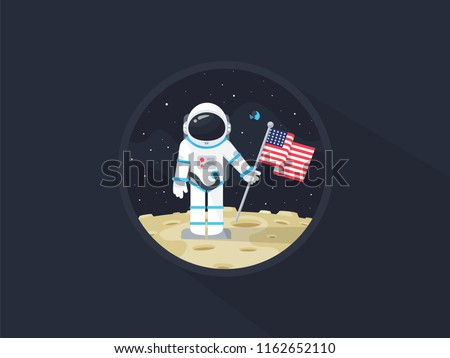 space walk on lunar surface
