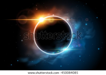 space with planet illustration
