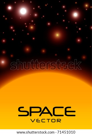 Space with sun vector eps10