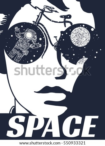 space woman  tattoo symbol of