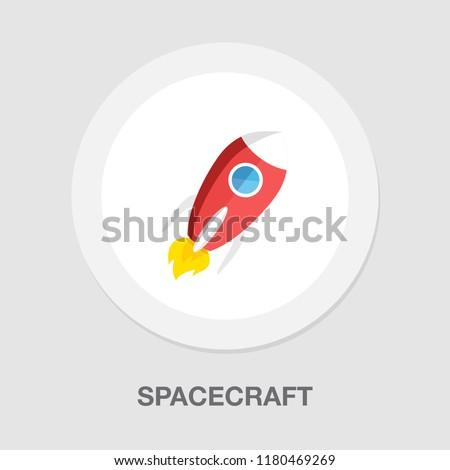spacecraft icon - vector rocket - spaceship icon