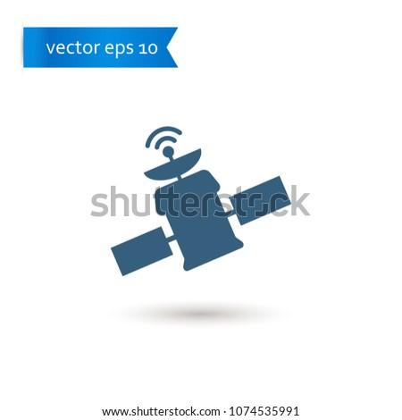 spacecraft. spacecraft icon. sign design. Vector EPS 10.
