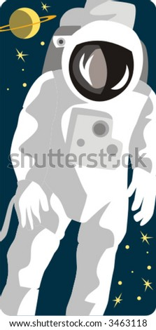 Spaceman vector illustration series. Check my portfolio for much more of this series as well as thousands of other great vector items.
