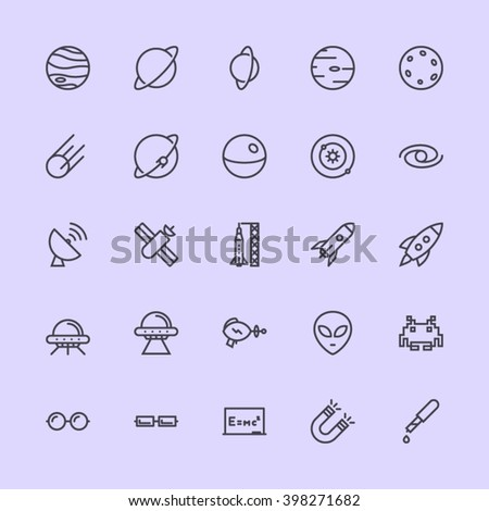 Spaces & Science Icons