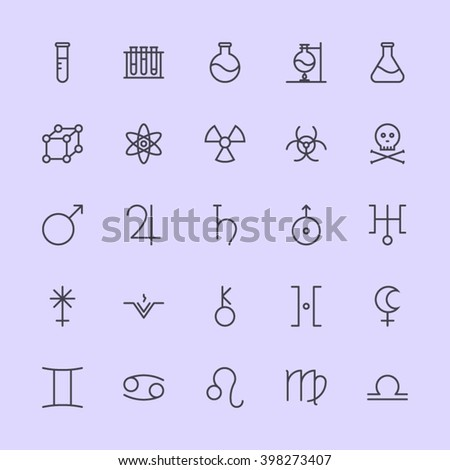 spaces   science icons