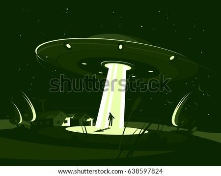 spaceship abducts man