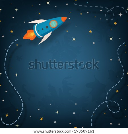 spaceship illustration with