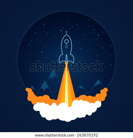spaceship on a background of