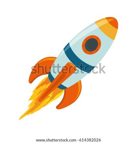 Spaceship rocket symbol