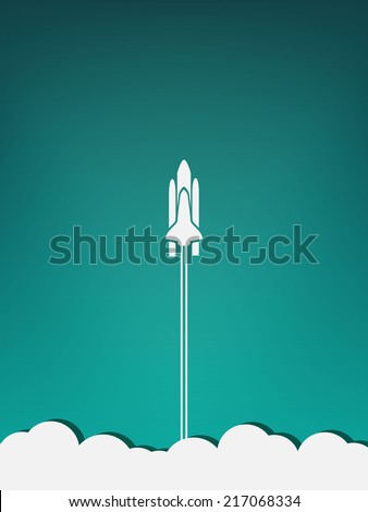 spaceship take off minimalist