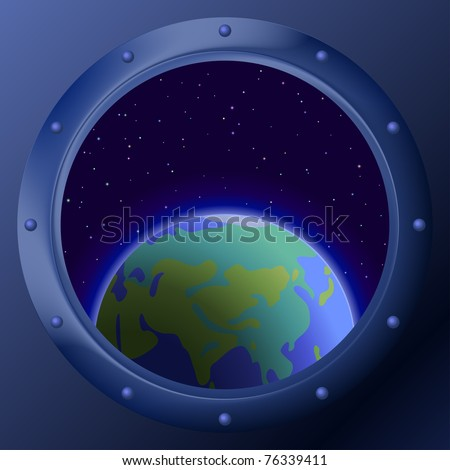 spaceship window porthole with