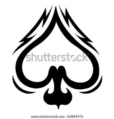 stock vector : Spade celtic tattoo design.