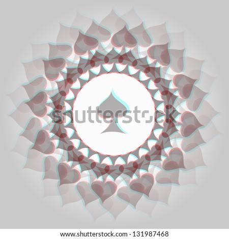spades 3d anaglyph effect 3d