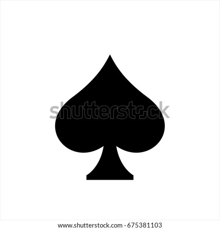 Spades icon in trendy flat style isolated on background. Spades icon page symbol for your web site design Spades icon logo, app, UI. Spades icon Vector illustration, EPS10. Сток-фото ©