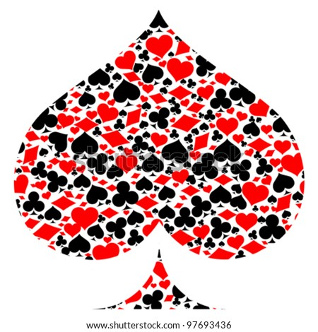 Spades With Game Card Symbols