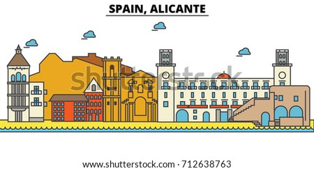 spain  alicante city skyline