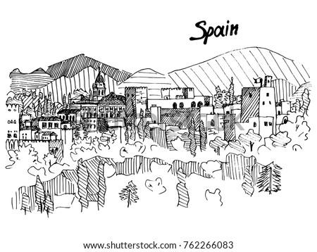 spain castle on the mountain