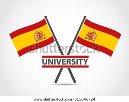 spain crossed flag emblem