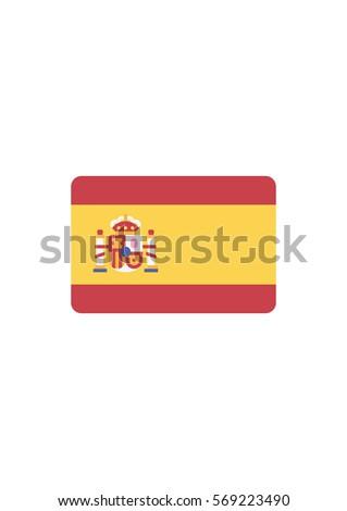 spain flag icon  vector