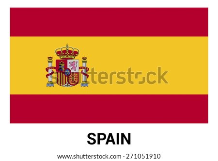 spain flag isolated vector in